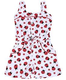 Babyhug Singlet Beetle Printed Jumpsuit