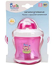 Duck Flip Straw Lid Cup Pink
