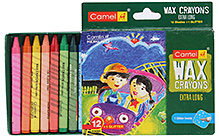 Camel Wax Crayons Extra Long - 12 Shades