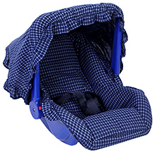 Fab N Funky Carry Cot Cum Rocker - Checks Print