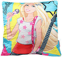 Barbie Rockstar Cushion Square Shape - Aqua Blue