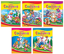 Dreamland Funny Colouring Book Pack of 5 - English