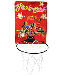 Prasima Toys Basket Ball And Net Hoop - Chhota Bheem Print