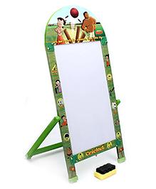 Prasima Toys Marker Board With Duster Chhota Bheem Cricket Theme - Green