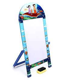 Prasima Toys Marker Board With Duster Chhota Bheem Flying Theme - Blue