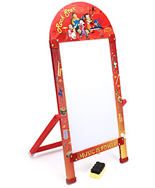 Prasima Toys Marker Board With Duster Chhota Bheem Music Theme - Red