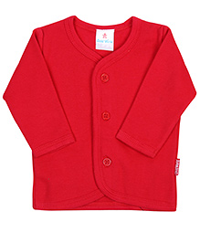 Child World Full Sleeves Plain Vest - Red