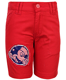 Disney Shorts with Mickey Mouse Print - Red