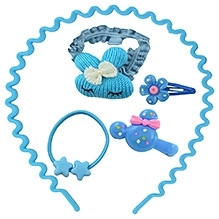 Angel Glitter Hair Accessory Cute Kitten Combo Of 5 - Blue