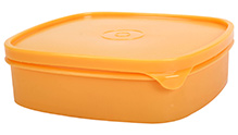 Pratap Lunch Box Square Shape - Yellow