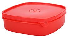 Pratap Lunch Box Square Shape - Red