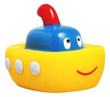 Mee Mee Ship Floater Squeeze Toy - 6.35 X 7.62 X 5 cm