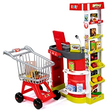 Smoby City Shop And Caddie Playset