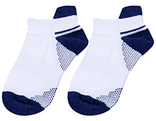 Cute Walk Ankle Length Socks Dual Colour Design - Navy Blue And White