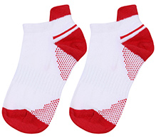 Cute Walk Ankle Length Socks Dual Colour Design - Red And White
