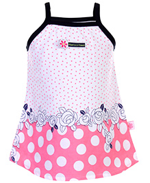 ToffyHouse Singlet Frock Flower Print - Pink