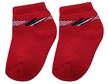 Cute Walk Ankle Length Socks - Red