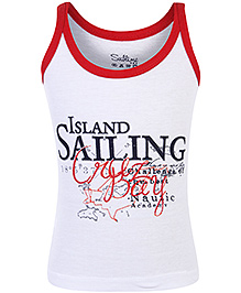 Sublime Sleeveless Sando Sailing Print - Red And White