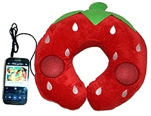 EZ Life Unique Kids Music Pillow - Strawberry