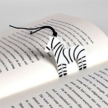 EZ Life Bookmark - Black And White Horse