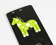 EZ Life Bookmark - Green Horse