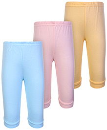 Zero Plain Multi Color Leggings - Set Of 3
