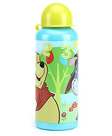 Winnie the Pooh Sipper Bottle Blue And Yellow - 440 ml