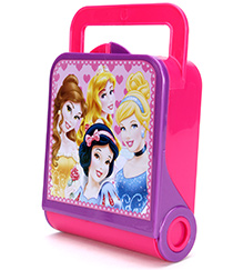 Disney Princess Lunch Box With Carry Handle And Princess Print - Pink and Purple