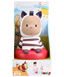 Smoby Cotooons Roly Poly Toy - White And Puple - 6 Months +