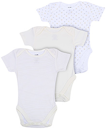 FS Mini Klub Short Sleeves Onesies Multi Print  - Set of 3