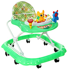 Fab N Funky Baby Musical Walker With Chip Monk Toy - Dark Green