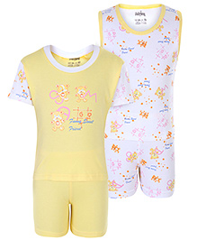 Babyhug 4 Piece Set - White And Yellow