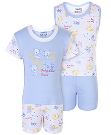 Babyhug 4 Piece Set - White And Blue