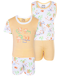 Babyhug 4 Piece Set - White And Orange