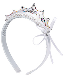 Kids Studioz Hair Band With Lace - White