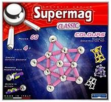 Plastwood Supermag Classic Magnetic Construction Set - 60 Pieces