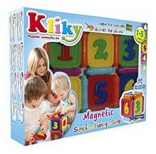 Plastwood Klicky Magnetic Construction Toy - Numbers