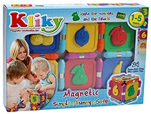 Plastwood Klicky Magnetic Construction Toy - Numbers And Fruits