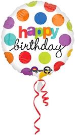 Wanna Party Birthday Balloon Polka dots - Multi Color