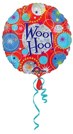 Wanna Party Balloon Woo Hoo! Print 18 Inches - Multi Color