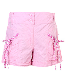 Babyhug Shorts Pink With Two Front Pockets - Pink