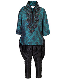 Babyhug Full Sleeves Embroidered Kuta And Jodhpuri Style Pathani Set