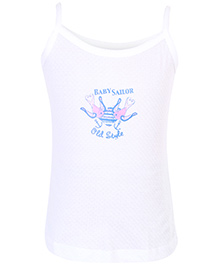 Sublime Singlet Slip White - Baby Sailor Print