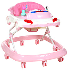 Fab N Funky Musical Baby Musical Walker - Pink And White