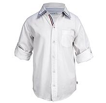 ShopperTree Full Sleeves Double Collar Shirt - White