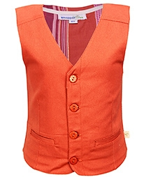 ShopperTree Sleeveless Waistcoat - Orange