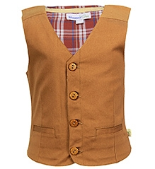 ShopperTree Sleeveless Waistcoat - Brown