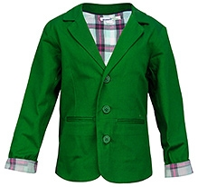 ShopperTree Full Sleeves Blazer - Green