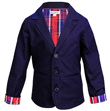ShopperTree Full Sleeves Blazer - Blue