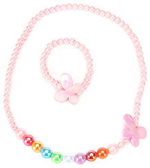 Kids Studioz Necklace And Bracelet - Pink